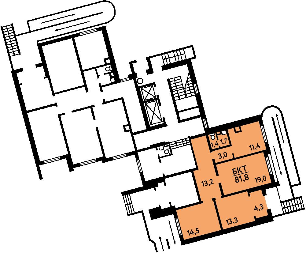 ПСН в Солнцево, 81.8м² за 11,9 млн руб.